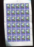 Belgie 1974 1707 Robert Schuman Environment Birds Flower Sheet Mnh Plaatnummer 2 5/3/1974 Licht Wit Papier Luppi Z.29 - Feuilles Complètes