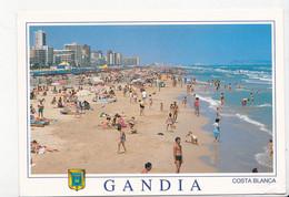 ESPAGNE: GANDIE (Gandia), Costa Blanca, Vue Générale De La Plage, Baigneurs, Ed. Arribas 2011 Environ - Non Classés