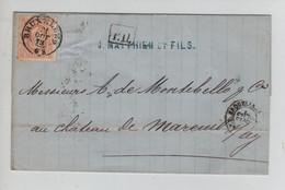 REF3592/ TP 33 S/LSC Matthieu & Fils C.BXL 21/10/1873 PD > France - 1869-1883 Leopold II