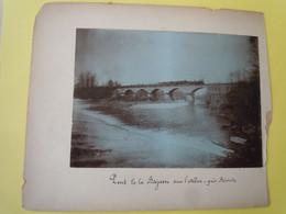 2 Photos Albuminées  LAMOTHE Près Brioude  Et Le Pont De La BAJASSE Sur L'Allier - TRAIN - Old (before 1900)