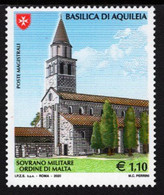 SMOM - Sovereign Military Order Of Malta - 2020 - Places Of Faith - Basilica Of Aquileia - Mint Stamp - Malte (Ordre De)