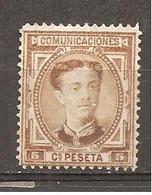 España/Spain-(MH/(*)) - Edifil  174 - Yvert  163 (sin Goma) - Unused Stamps