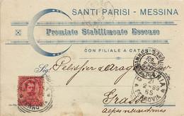 CPA MESSINA 21/2/1899 - Messina