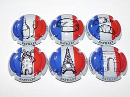 Série De 6 Capsules De Champagne  - GUY BATILLET (France) - Collections