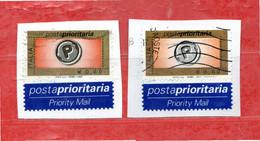 Italia ° - Anno -2004 - Euro; 0,60 - Posta Prioritaria, Tipo A + B  Unif. 2770A + 2770B - 2001-10: Usados