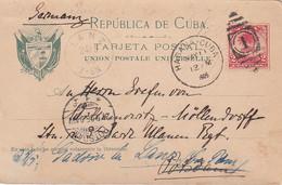 Cuba Postcard 1905 - Used Stamps