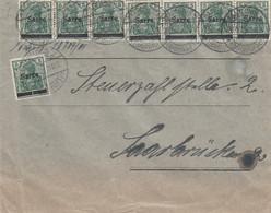 Deutsches Reich Saargebiet Brief 1920 - Storia Postale