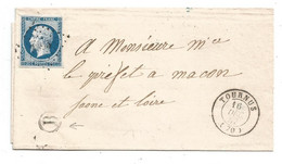 - SAONE Et LOIRE - TOURNUS PC.3395 S/TPND Napoleon III N°14 + Càd T.15 - 1857 - 1853-1860 Napoléon III