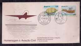 Brasil FDC Hommage à L'Aviation Civile 1977 - FDC