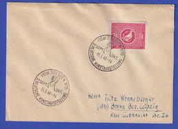 SBZ 24 Pfg Volkskongress Mi.-Nr. 232 Mit So.-O DRESDEN KUNSTAUSSTELLUNG 15.9.49 - Zona Soviética