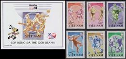 Soccer Football Vietnam #2598/2603 + Bl 106 1994 World Cup USA MNH ** - 1994 – USA