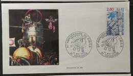 France 1982 / FDC 20ème Anniversaire Du CNES - 1980-1989