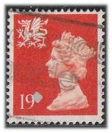 GB 1988 Yv. N°1351 - 19p Orange - Oblitéré - Wales