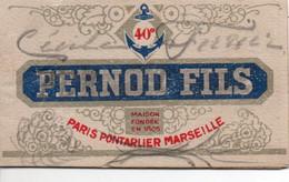 CALENDRIER 1928 PUBLICITE PERNOD PARIS PONTARLIER DOUBS MARSEILLE CARNET PUBLICITAIRE - Publicidad