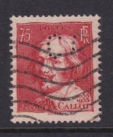 Perforé/perfin/lochung France 1935 No 306 Cc Crédit Commercial De France (36) - Perforés