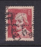 Perforé/perfin/lochung France 1935 No 306 CL Crédit Lyonnais (218) - Perforés