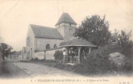 21-4985 : VILLENEUVE-SUR-AUVERS. L'EGLISE ET LE PUITS. EDITION DES GACHONS - Autres Communes