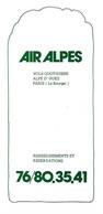 Air Alpes Alpes D' Huez 1978 Aviation - Sin Clasificación