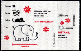 2020 Austria Virus COVID 19 Odd MS On Toilet Paper MNH** MI B 119 Elephant, Fly, Mouse, Ant, Medicine - Errores En Los Sellos