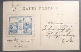 CPA 56 VANNES - RARE Verso : Vignette De L'Association Des Sociétés De Gymnastique De L'Ouest Concours 1910 - Réf. B 280 - Vannes