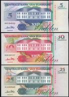 Suriname - 5, 10, 25 Gulden Banknoten 1996 UNC (1) Vögel Birds  (14170 - Otros – América