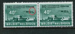 """N° 1195 V 3  """" Point Sur Le L De MOL  """"  état: ** - Plaatfouten (Catalogus OCB)"""
