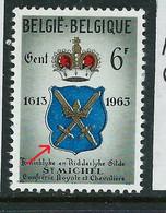 "N° 1248 V 2 "" Couleurs Bleu à L'extérieur   ""  état: ** - Plaatfouten (Catalogus OCB)"