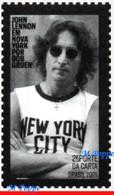 Ref. BR-V2021-01 BRAZIL 2021 FAMOUS PEOPLE, JOHN LENNON IN NEW YORK,, MUSIC, ROCK, BEATLES, MNH 1V - Nuovi