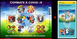 Ref. BR-V2020-08+E BRAZIL 2020 HEALTH, FIGHTING COVID-19, VIRUS,, EPIDEMIC, PREVENTION, MNH + BROCHURE 6V - Nuevos
