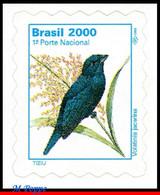 Ref. BR-2499A BRAZIL 2000 BIRDS, ANIMALS & FAUNA,VOLATINIA, JACARINA, MI# 2765, DEFINITIVE MNH 1V Sc# 2499A - Songbirds & Tree Dwellers