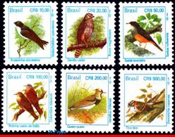 Ref. BR-2443-48 BRAZIL 1994 BIRDS, ANIMALS & FAUNA, CR$,, DEFINITIVE, MI# 2569-2583, SET MNH 6V Sc# 2443-2448 - Collections, Lots & Series