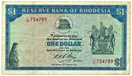 Rhodesia - 1 Dollar - 1971.08.18 - P 30.f - Serie L/38 - Sign. 1 - Rhodesia