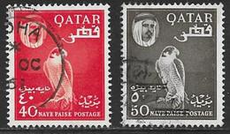 Qatar Scott # 30-1 Used Falcon, 1961 - Qatar