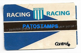 155007 ARGENTINA SPORTS SOCCER FUTBOL RACING VS AMERICA DE CALI ENTRADA TICKET NO POSTAL POSTCARD - Tickets - Vouchers