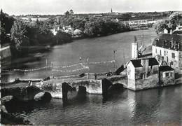 """/ CPSM FRANCE 56 """"Auray Saint Goustan, Le Vieux Pont"""" - Auray"""