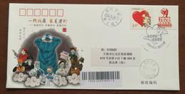 United Together,CN20 Ningbo Fighting COVID-19 Pandemic Novel Coronavirus Pneumonia Personalized Stamps Used On Cover - Krankheiten