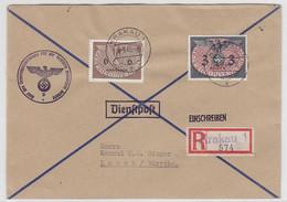 Generalgouvernement R-Brief Mit MIF Von Krakau An Den Konsul Sieger AKs - Besetzungen 1938-45