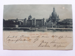 #2 Allemagne Germany Deutschland Saxony Dresden Kunstakademie1897 Postcard Circulated , Circuler 2 Scans - Dresden