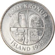 Monnaie, Iceland, 5 Kronur, 1999, TB+, Nickel Plated Steel, KM:28a - Iceland
