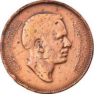 Monnaie, Jordan, Hussein, 10 Fils, Qirsh, Piastre, 1974/AH1394, TB, Bronze - Jordan