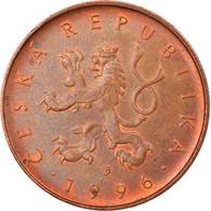 Monnaie, République Tchèque, 10 Korun, 1996, TB+, Copper Plated Steel, KM:4 - Czech Republic