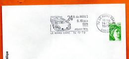 72 LE MANS GARE  24 H. 1979 Lettre Entière N° XY 5 - Mechanische Stempels (reclame)
