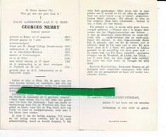 Georges Merry O Ronse 1885 + Nazareth 1969 Priester Welden - St.denijs-westrem - Godveerdegem - De Pinte - Images Religieuses