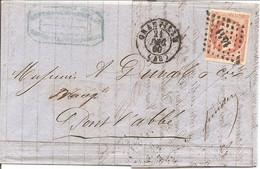 MANCHE (48) LAC De GRANVILLE OBLI PC 1441  Sur  NAP 16 Pour PONT L'ABBE LAMBOUR - 1849-1876: Classic Period