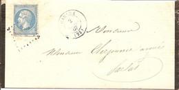 DORDOGNE (23) LAC De CARLUX GC 738 Sur NAP Pour SARLAT - 1849-1876: Classic Period
