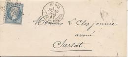 SEINE (60) LAC  PARIS OBLI ETOILE 1  ( PLACE DE LA BOURSE ) Pour SARLAT  + AMBULANT - 1849-1876: Classic Period