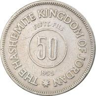 Monnaie, Jordan, Hussein, 50 Fils, 1/2 Dirham, 1965, TB, Copper-nickel, KM:11 - Jordan