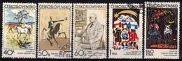 Tchécoslovaquie 1972 Mi 2060-4 (Yv 1904-8), Obliteré - Used Stamps