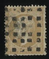 """N° 21 Cote 75 € Oblitération """"Rouleau Gros Points"""", Dents Coupées Aux Ciseaux En Bas. - 1849-1876: Classic Period"""