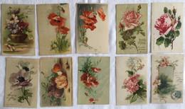 Lot De 10 Cartes Fleurs -Klein-461 470 - Sin Clasificación